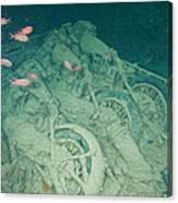 Fish And Motorbikes Canvas Print
