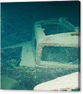 Ship Wreck With Trucks Canvas Print