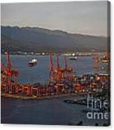 Shipping Terminals Port Of Vancouver Canvas Print