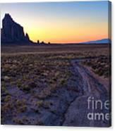 Shiprock Sunset Canvas Print