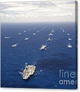 Ships And Submarines Participating Canvas Print