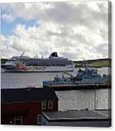 Ships In Lerwick Harbour Canvas Print