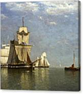 Ships Lying Off Flushing Canvas Print