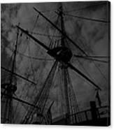 Ships Silhouette Canvas Print