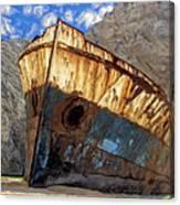 Shipwreck At Smugglers Cove Canvas Print