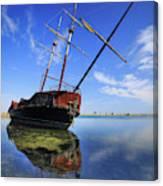 Shipwreck In Lake Ontario  Ontario Canvas Print