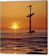 1a4145-a1-e-shipwreck In The Bay Canvas Print