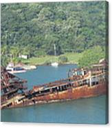Shipwreck Of Roatan Honduras Canvas Print