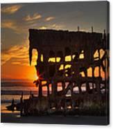 Shipwreck Sunburst Canvas Print