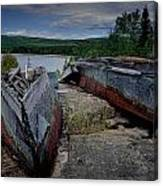 Shipwrecks At Neys Provincial Park No.3 Canvas Print