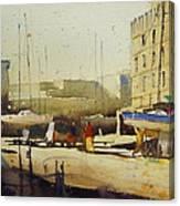 Shipyard At Keroman Canvas Print