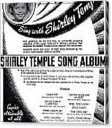 Shirley Temple Song Album Canvas Print