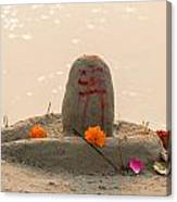 Shivling From Sand Canvas Print