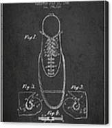 Shoe Eyelet Patent From 1905 - Charcoal Canvas Print