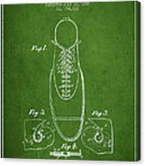 Shoe Eyelet Patent From 1905 - Green Canvas Print