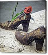 Shoes On The Danube Bank Canvas Print