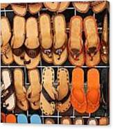 Shoes Shoes Everywhere Playa Del Carmen Mexico Canvas Print