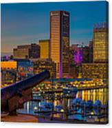 Shooting Purple In Baltimore Canvas Print