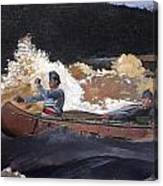Shooting The Rapids Saguenay River Canvas Print