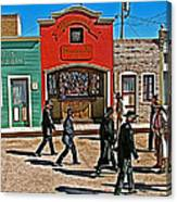 Shootout At The Ok Corral In Tombstone-arizona Canvas Print