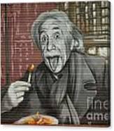 Shop Window Metal Blind Einstein Canvas Print