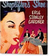 Shoplifter's Shoe. Vintage Pulp Fiction Paperback Canvas Print