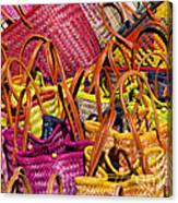 Shopping Baskets Canvas Print