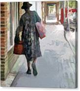 Shopping Day On Dargan Street Canvas Print