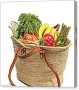 Shopping For Orrganic Fruit And Vegetables  Canvas Print