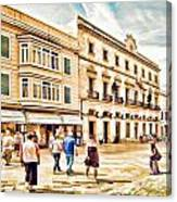 Shopping In Menorca Canvas Print