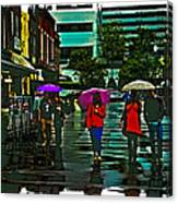 Shopping In The Rain - Knoxville Canvas Print