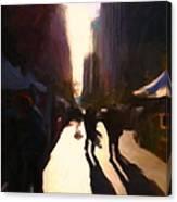 Shopping Stands Along Market Street At San Francisco's Embarcadero - 5d20841 V2 Canvas Print