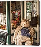 Shopping's A Bear Canvas Print