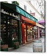 Shops On Rue Cler Canvas Print