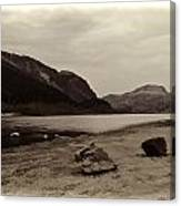 Shore Of A Loch In The Scottish Highlands Canvas Print