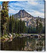 Shoreline View Of Anthony Lake Canvas Print