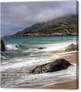 Shores Of Big Sur Canvas Print