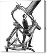 Short-focus Telescope, 1881 Canvas Print