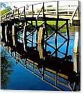 North Bridge On The Concord Canvas Print