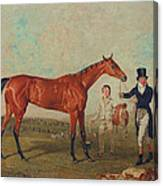 Shoveller Held By Her Trainer Will Chifney Canvas Print