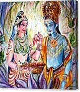 Shree Sita Ram Canvas Print