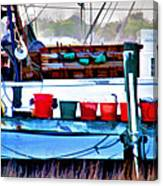 Shrimp Boat Buckets Canvas Print