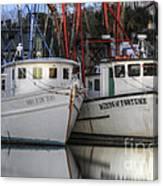Shrimp Boats Reflecting Canvas Print