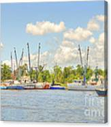 Shrimp Boats In Georgetown Sc Canvas Print