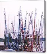 Shrimpers On The Shem Canvas Print