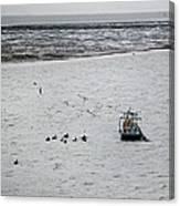 Shrimping In Mobile Bay Canvas Print
