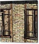 Shuttered Windows Canvas Print