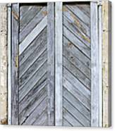 Weathered Wooden Shutters Canvas Print