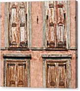 Four Wooden Shutters Canvas Print