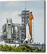 Shuttle Endeavour Is Prepared For Launch Canvas Print